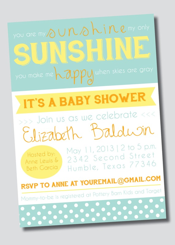 customizable you are my sunshine baby shower by sweetgreetsdesigns