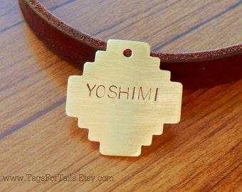 Native Pet Tag -Southwest Cat or Dog ID Tag -Handmade