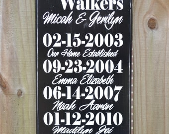 Custom Dates Sign - Important Dates Wood Sign - Anniversary Gift - Family Sign - Each Day is a Blessing
