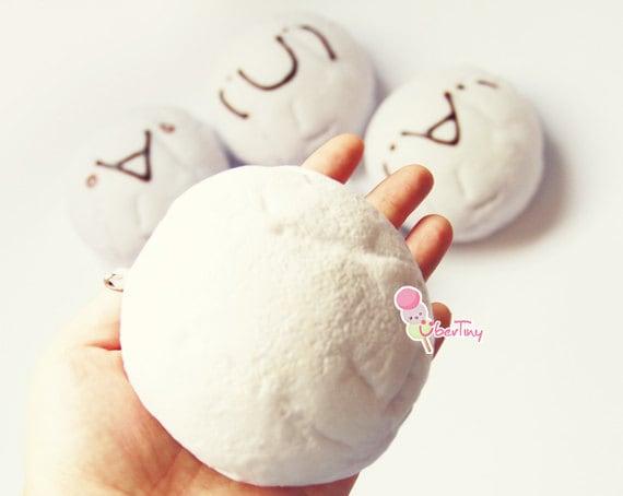 Squishy Jumbo Marshmallow : Jumbo Marshmallow Squishy Bun Charm by UberTiny on Etsy