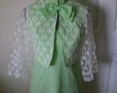 Sale MINT JULEP  2 piece Vintage Dress With Lace Bolero Jacket Size Small