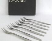 Dansk Vintage Variation V Cocktail Forks Picks IHQ Jens Quistgaard
