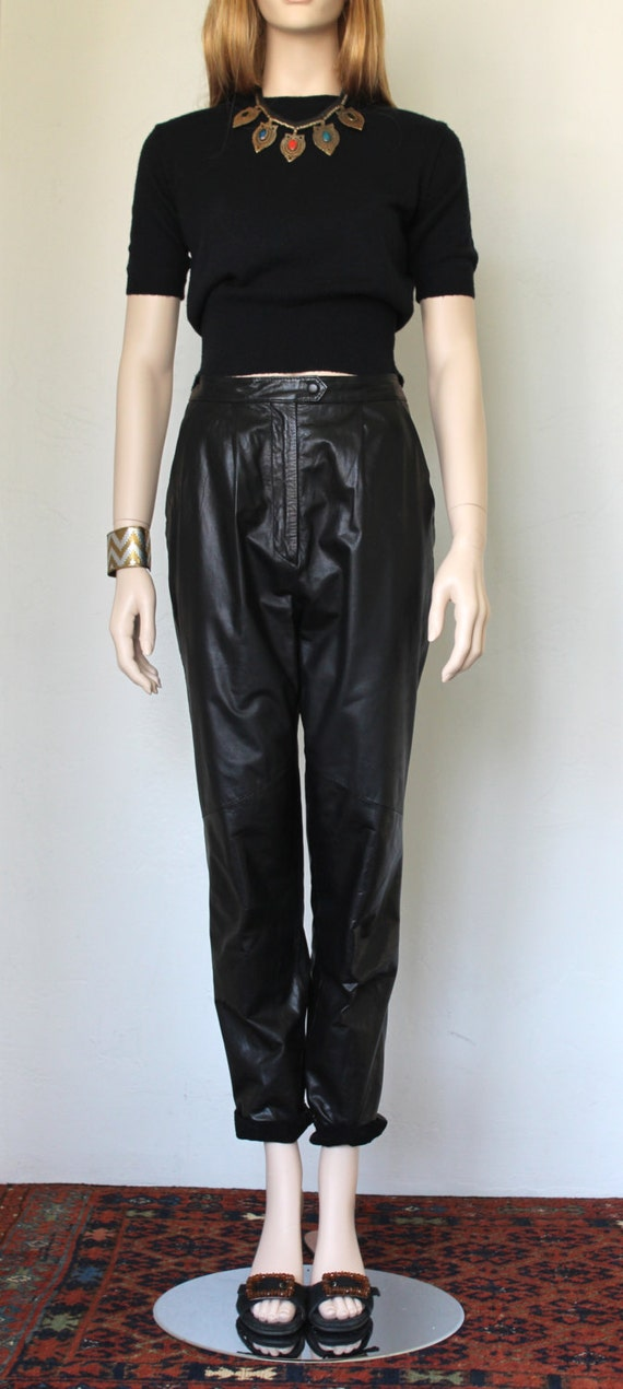 pleated leather pants - Pi Pants