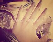 3 Chevron Knuckle Ring / Midi Ring, Gold Chevron Midi Ring, Silver Chevron Midi Ring