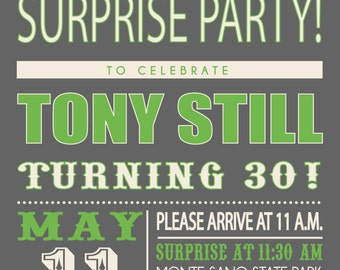 Birthday Party Invitation Surprise Party