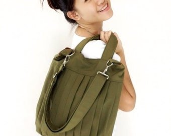 Handbags Bag Canvas Bag Diaper bag Shoulder bag Hobo bag Tote bag Messenger Purse Everyday bag  Olive Green  Martha