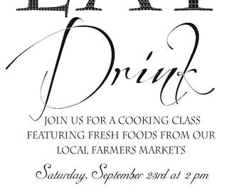 Cooking Class/Demonstration Invitation