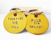 Couples Keychains, Star Wars Inspired, Nerd Bestfriend Boyfriend Girlfriend Birthday Anniversary Wedding Gift Idea for Father Son