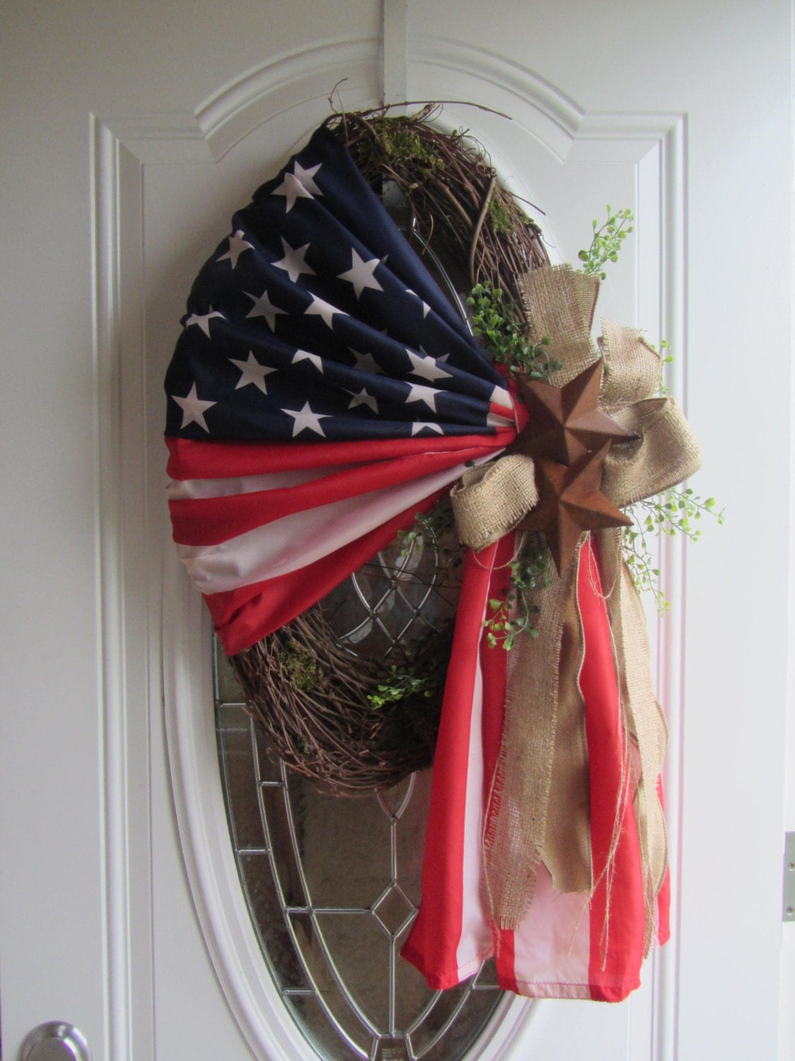 Patriotic Wreath 4th Of July Wreath Summer Wreath