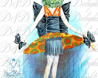 RARE. Digital MARDI Gras Costume. French Weird Crazy Costume. VIntage Illustration. Vintage French Mardi Gras Costume Digital Download.