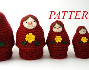 Russian Nesting Dolls Crochet Pattern