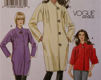 Jacket & Coat  - Vogue Pattern 8607    Uncut   Size 8-10-12-14  Bust 31.5-32.5-34-36""