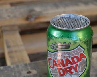 The Jam Can Portable Guitar Amplifier: Recycled Canada Dry Can