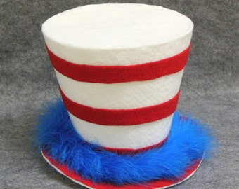 The Cat in the Hat top hat, Dr Seuss Party Decoration