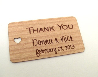 Wood Gift Tags (100) / Wedding Favor Tags / Wooden Tags / Gift Tags / Shower Favor Tags / Wooden Hang Tags  - Wood Personalize