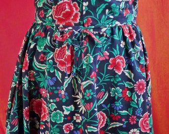 "Liberty Cotton Original Design Dress, Made in the '70s, 26"" Waist"