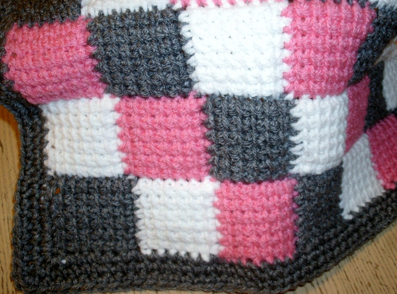 Baby Afghan Patterns To Crochet : Crochet Baby Entrelac Blanket Tunisian by prettyponchosandmore