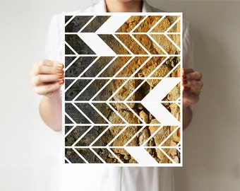 Geometric print, Geometric art, Geometric poster, Modern print, Modern art, Abstract art, Nature photography, Art print , Tree bark, brown