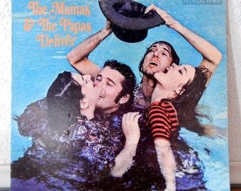 Vintage Vinyl LP - Mamas and the Papas - Deliver - 1967 Album
