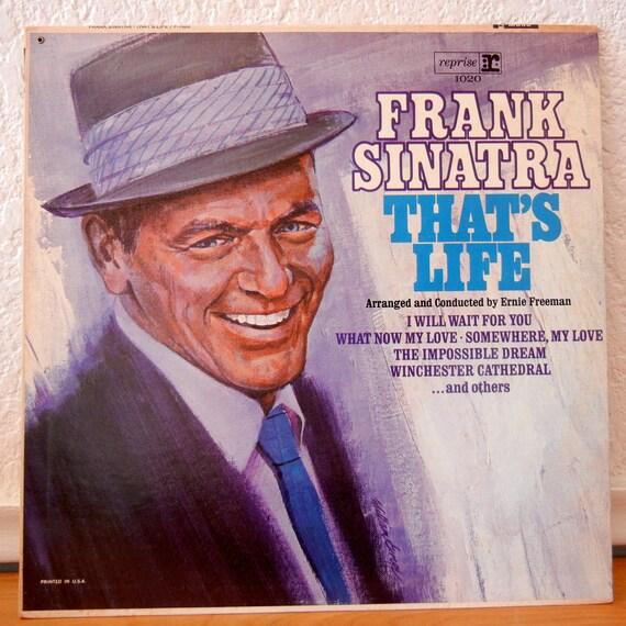 Frank Sinatra Record Thats Life Vintage Vinyl Lp 1966