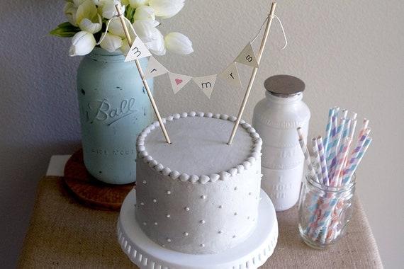 Banner Wedding Cake Topper Banner Wedding Cake Topper
