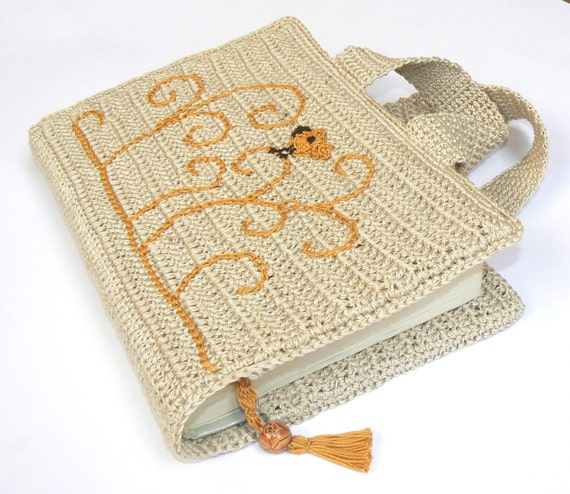 Book Cover Crochet Uk : Items similar to book cover bible carry