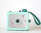 Vintage Mint Green Savoy Mark II WORKING 1950s Camera