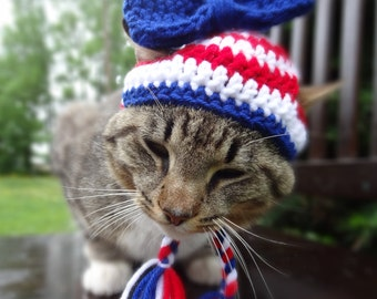 Independence Day Cat Hat, July 4th Cat Costume, July 4th Cat Clothes, July 4th Hat for Cats, Fourth of July Cat Hat, July 4th Cat Clothing