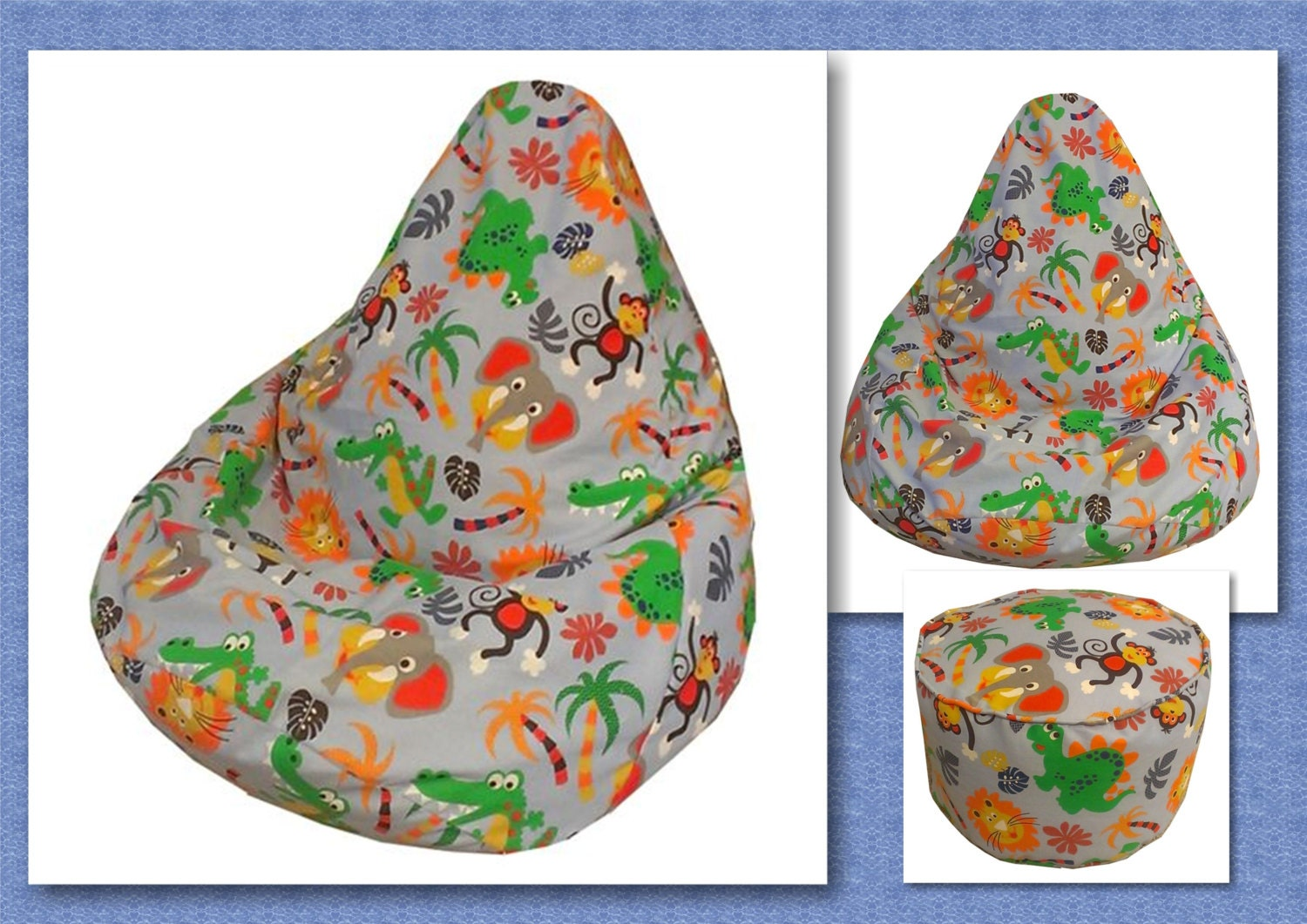 How to make bean bag chairs -  Pattern Children Chair Beanbag Lazy Sofa Cushion Instant Download Zoom
