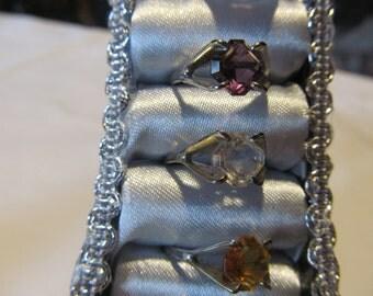 Amethyst Ring Birthstone Sterling Silver February Birthday Jewelry Sterling ring size 4