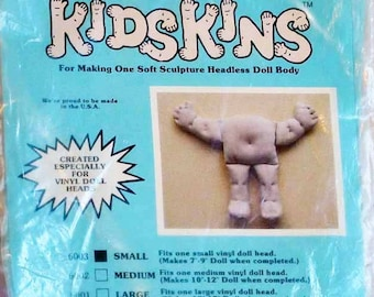 Soft Doll Kit, Trends 6003, Small Soft Sculptured Doll by Kidskins, 1984, 7 - 9 Inches, 5-oz