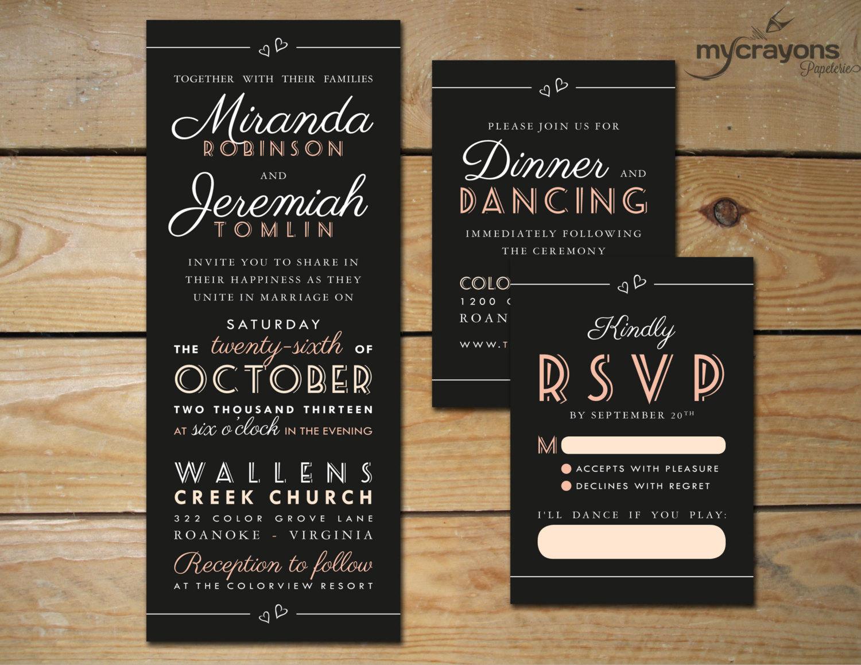 Chalkboard Wedding Invitations: Unavailable Listing On Etsy