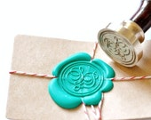 B20 Wax Seal Stamp Personalized Wedding Custom Double Script Initials with Ampersand