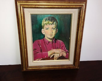 Price reduced/Portrait of a boy/original oil on canvas/Price reduced