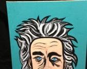 Albert Einstein - Original Pop Art - folk painting