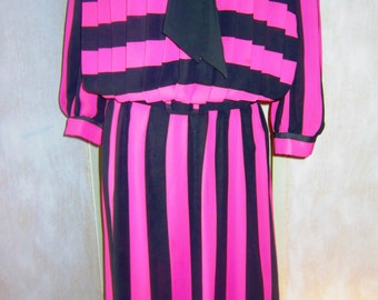 Vintage 80s Striped Dress by Alexis