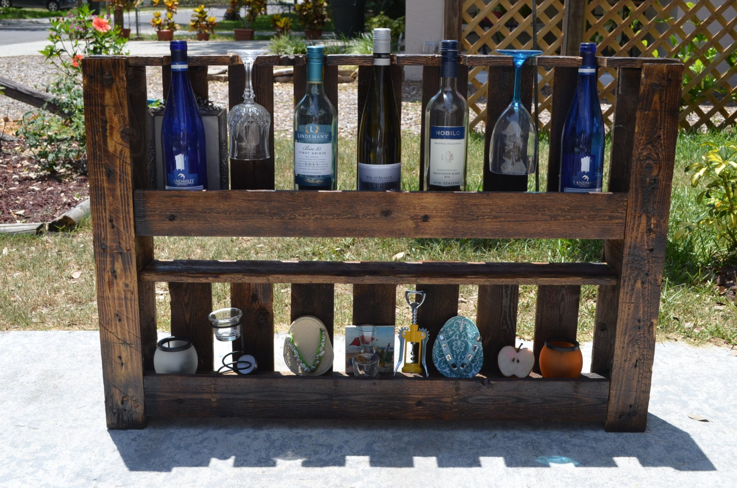 Recycled Wine Rack made from Pallet wood by BKCustomCreations