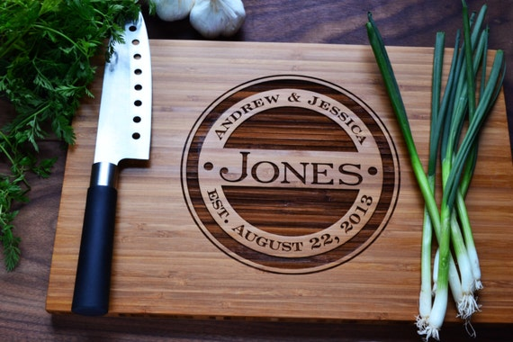 personalized cutting board engraved bamboo by twistedbranchdesigns,