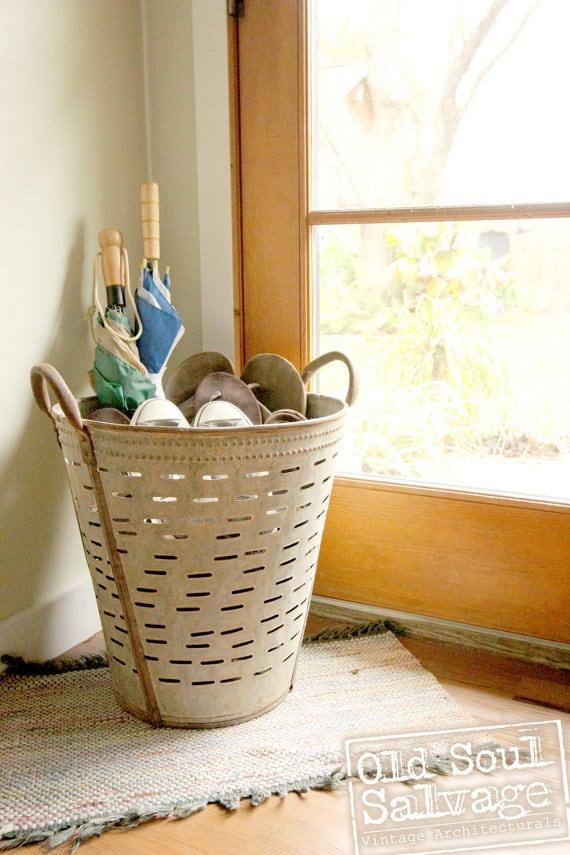 Vintage Metal Olive Basket From Turkey Pottery Barn