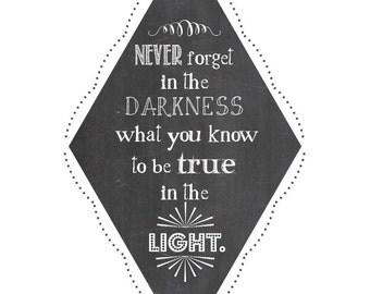 True in the Light graphic print
