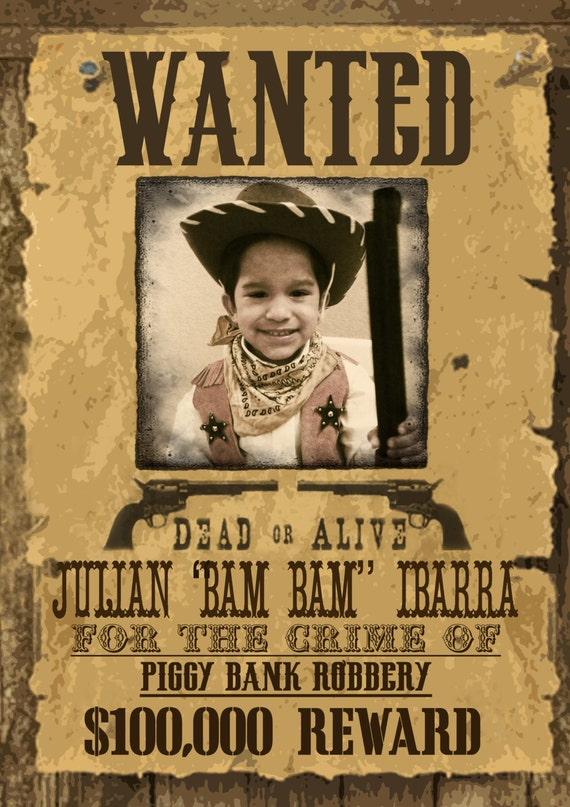 Real Old Western Wanted Posters