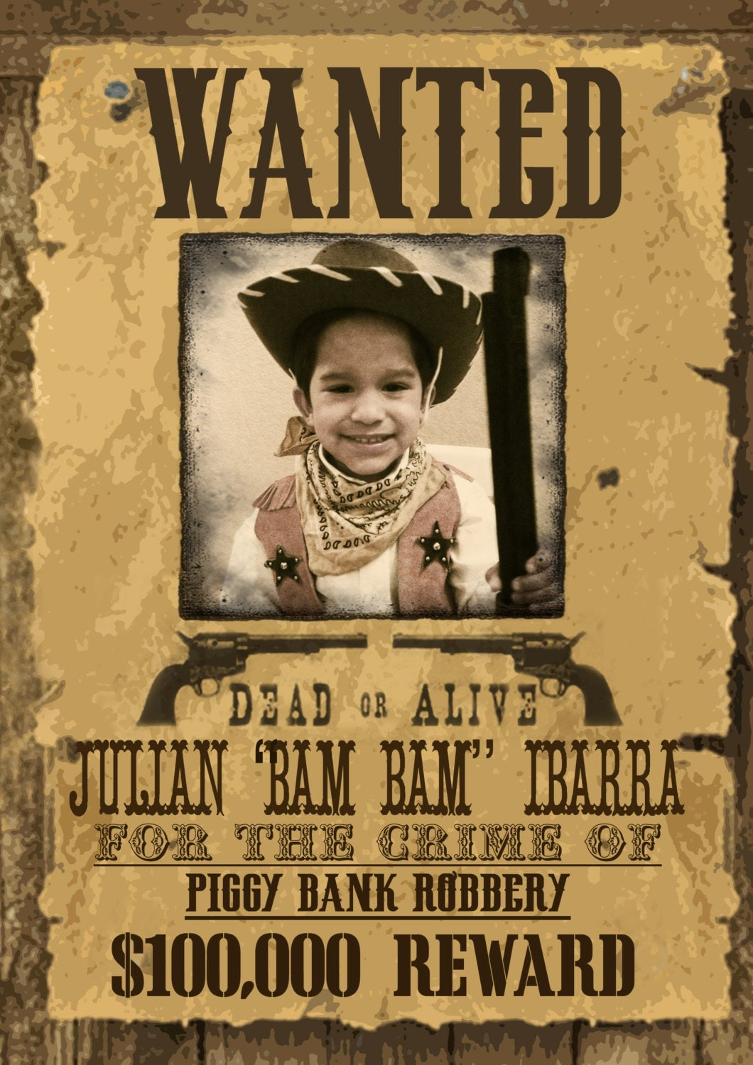Wild West Wanted Poster Printable – Real Wanted Poster