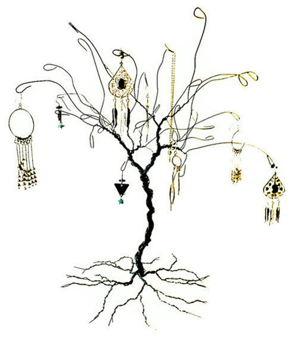Items similar to wire jewelry tree stand display custom for How to make a wire tree jewelry stand