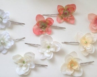 15% OFF Sale - Silk flower hair clips: Casual - Picnic/Outing - Wedding - Party - Bridesmaids - Flower Girls