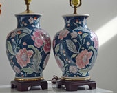 Slightly Mismatched Pair of Chinoiserie Lamps