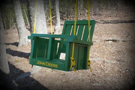 Childs John Deere Solid Wood Painted Swing John Deere