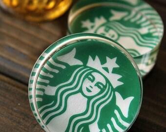 Glass Seal Stamp -- Diary Stamp -- Rubber Stamp -- Starbucks
