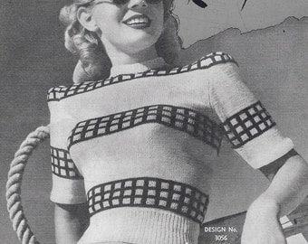 1940s Ladies Knitting Patterns - PDF Copy of Sun-glo Knitting Booklet Series 77