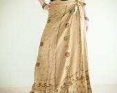 Premium Soft Stonewashed Heavy Weight Rayon Gypsy Wrap Around Skirt Free Size (IR-4)