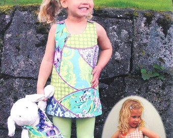 Pattern - Easy Curves Girl's Jumper / Dress or Tunic Paper Sewing Pattern by Olive Ann Designs (OAD65)